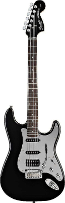 Squier Black and Chrome Standard Stratocaster® HSS, Rosewood Fingerboard, Black