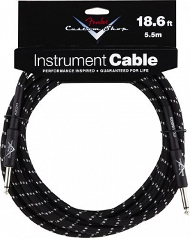 Kabel Fender® Custom Shop Performance Series Cable, 18.6', Black