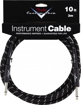 Kabel Fender® Custom Shop Performance Series Cable, 10', Black
