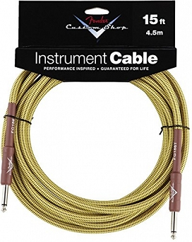 Kabel Fender® Custom Shop Performance Series Cable, 15', Tweed