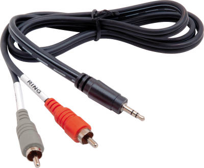 Hosa CMR-203 - Kabel Breakout TRS 3.5mm - 2 x RCA, 0.91m (mini jack stereo - chinch)