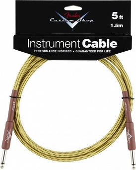 Kabel Fender® Custom Shop Performance Series Cable, 5', Tweed