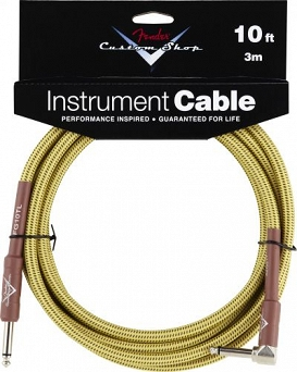 Kabel Fender® Custom Shop Performance Series Cable, 10', Tweed, Angled