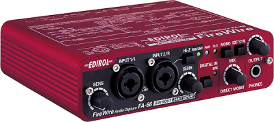 Edirol FA-66 Interfejs AUDIO/MIDI FireWire (6-In/6-Out, 24-bit/192kHz)