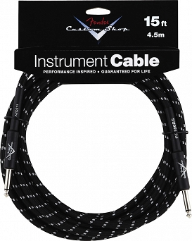 Kabel Fender® Custom Shop Performance Series Cable, 15', Black
