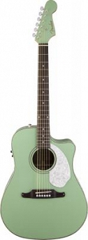 Fender Sonoran™ SCE, Cutaway, w/Match Headstock, Solid Spruce Top, Fishman®, Surf Green