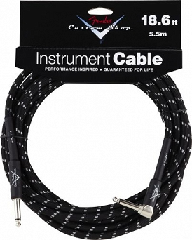 Kabel Fender® Custom Shop Performance Series Cable, 18.6', Black, Angled