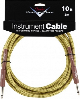 Kabel Fender® Custom Shop Performance Series Cable, 10', Tweed