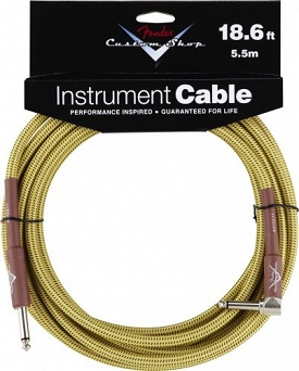 Kabel Fender® Custom Shop Performance Series Cable, 18.6', Tweed, Angled