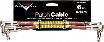 "Kabel Fender® Custom Shop Performance Series Cable, 6"", Tweed, Two-Pack"