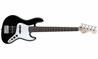 Squier Affinity Jazz Bass® V (5 String), Rosewood Fingerboard, Black