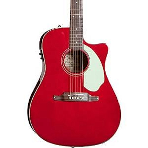 Fender Sonoran™ SCE, Cutaway, w/Match Headstock, Solid Spruce Top, Fishman®, Candy Apple Red