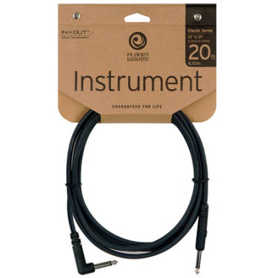 Planet Waves CGTRA 20 kabel jack-jack kątowy 6m